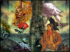 really cool rendering of the many aspects of The Dark Tower series by Stephen King