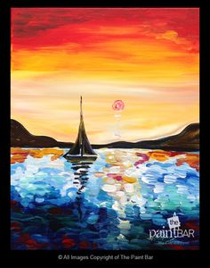Sail into the Sunset Painting - Jackie Schon, The Paint Bar