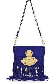 Emilio Pucci, fringed suede purple bag. I saw this on in the flesh in Colette in Paris!