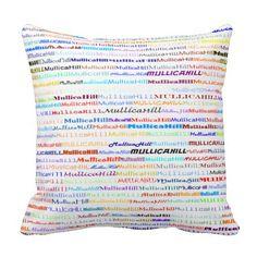 Mullica Hill Text Design II Throw Pillow