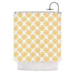 """Kess InHouse Apple Kaur Designs """"Sunburst"""" Orange Gray Shower Curtain, 69 by 70-Inch Kess InHouse http://www.amazon.com/dp/B00NMC0J4A/ref=cm_sw_r_pi_dp_5Wr1vb1CGBKD2"""