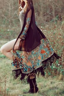 Kimono | Floral And Black Kimono Cardigan For Women Fashion Style Online | ZAFUL