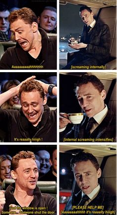 """How Tom Hiddleston really felt while filming the Jaguar """"British Villains"""" commercial. This would be me."""