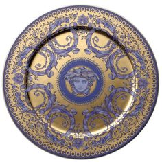 Buy Versace Service Plate, Gold, 13 inch, Le Grand Divertissement Gold from…