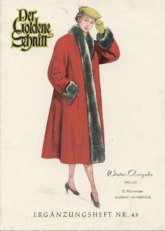 Vintage Lutterloh Sewing Patterns 43 winter 1951  sewing dressmaking Schnitte
