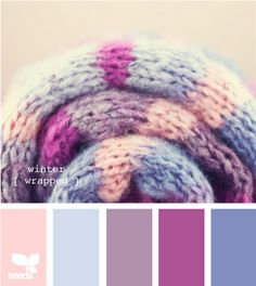 winter wrapped (if we go with this color pallette...mostly blue...I'll get my pink!) Need a beige though.... and white!