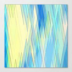 Re-Created Vertices No. 8 5 #Stretched #Canvas by #Robert #S. #Lee - $85.00