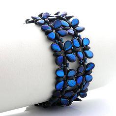 Preciosa PIP bracelet kacenkag / Ježatý modrý
