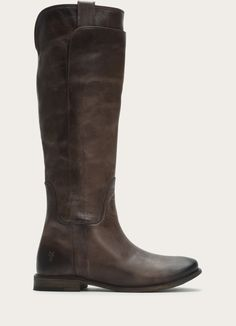 - Italian leather</br>- Leather lined </br>- Leather outsole</br>- shaft height</br>- shaft circumference</br>- heel height </br>- Stacked leather heel The Frye Company, Tall Riding Boots, Grey Boots, Shoe Boots, Shoes, Leather Heels, Italian Leather, Footwear, My Style