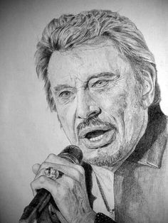 Johnny Hallyday Dessiné par Manvale