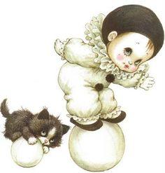 Pierrot et chat