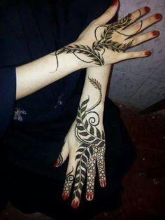 henna leaf design - Google Search