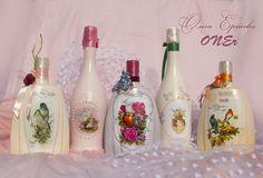 Оформление подарочных бутылок и других предметов интерьера на заказ. Подробности на http://livemaster.ru/oner Асти Мартини ( #AstiMartini ) #Коньяк Старейшина7 #птицы #шампанское #birds #wedding