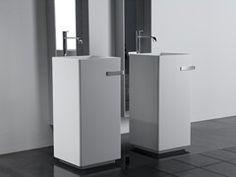 Freestanding Corian® washbasin KUBIK - Antonio Lupi Design®