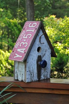 "New Birdhouse! - The Love Shack ♥           Custom birdhouse - ""The Loft - Love the colors!           Custom ""Texas"" themed birdhouse. I ..."