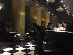 The Nail Bar - Nashville, TN, United States. Pedicure station and manicure bar.