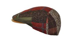 stylish patchwork cap made by Alfonso d'Este - cap manufacturer from Napoli