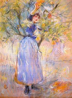 The Orange Picker, 1889, Berthe Morisot (by BoFransson)