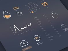 Dribbble - Managing Dashboard by Cindy Wang | UI | Design