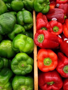 Pepper Power , Red and Green by moonjazz, via Flickr