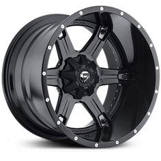 Fuel D257 Driller Two Piece  Wheels Matte Black
