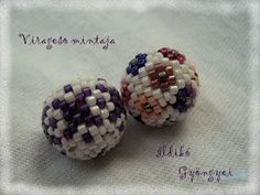 Ékszerládika és a Csodababák: Virágeső Bogyó Mintája! Beading Patterns, Latte, Stud Earrings, Floral, Jewelry, Balls, Patterns, Florals, Jewellery Making