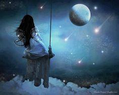 La balançoire et la lune