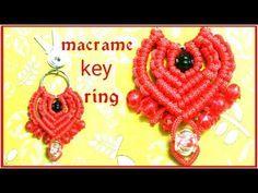 EASY Macrame keychain tutorial in hindi/ WASTAGE Macrame keyring /Macrame - YouTube