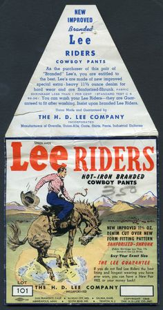 1946 Lee Riders Pocket Flasher