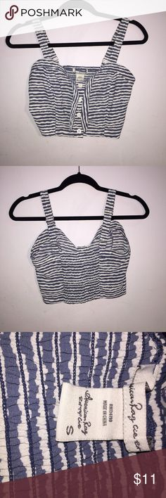 ☀️SUMMER CROP TOP☀️ Never worn before! Blue and white crop top! Tops Crop Tops