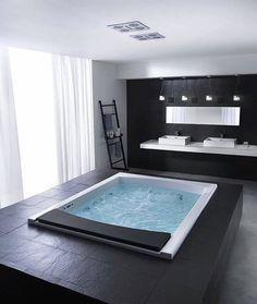 Instagram Style At Home, Bad Inspiration, Bathroom Inspiration, Dream Bathrooms, Beautiful Bathrooms, Luxury Bathrooms, Black Bathrooms, White Bathroom, Bathroom Interior