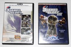 3 GAMES TO GLORY II & III New England Patriots DVDs 2 3 Super Bowl NFL Football