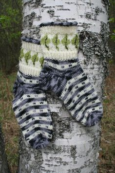 Socks inspired by Finnish nature.