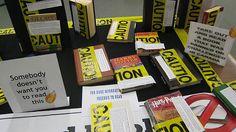 Caution - books by leddy library weblog, via Flickr