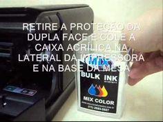INSTALAÇÃO COMPLETA BULK INK HP C4480 - YouTube