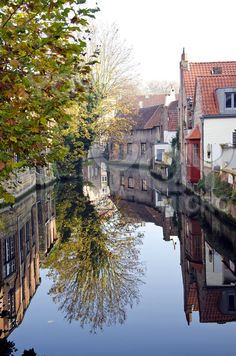 The Venice of the North - a canal in the historic city of Brugge, Belgium    So deserving of one more pin.
