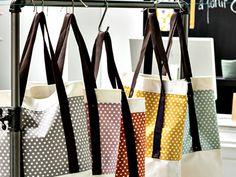 Tutoriel DIY: Coudre un Tote Bag en coton coloré via DaWanda.com