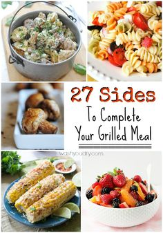 From potato salad to pasta salad, and even a little fruit salad it can be difficult to find the right side to pair with your grilled meal.  I've complied 27 Sides To Complete Your Grilled Meal from all over the web for your Labor Day weekend! Click through for recipe!