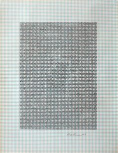 Eva Hesse  No title, 1967  Ink on graph paper, 10-7⁄8 x 8-1⁄2 inches