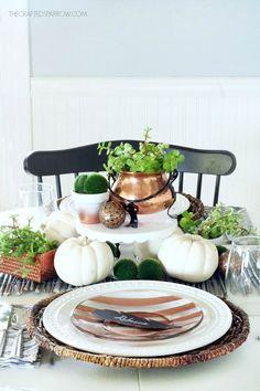 Copper Inspired Fall Tablescape
