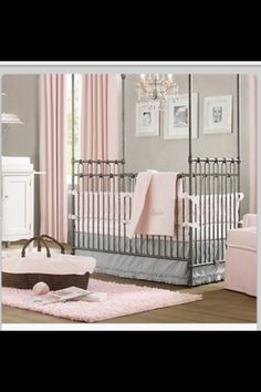 A beautiful design idea for a baby girl nursery... a SPM would be a great addition to this room!