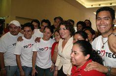 Creo en lo jóvenes, porque ellos son el futuro de Yucatán y desde ahoy ya lo construyen.