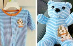 Adorable Baby Clothes Are Transformed Into Personalized Keepsake Bears