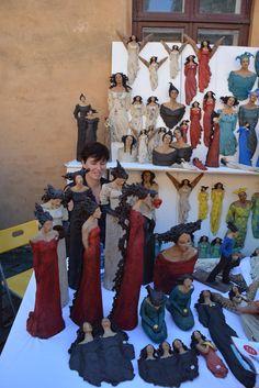 Ingun Dahlin, Norway Pottery Angels, Paper Clay Art, Figurative, Norway, Sculpture, Painting, Saints, Sculptures, Earth