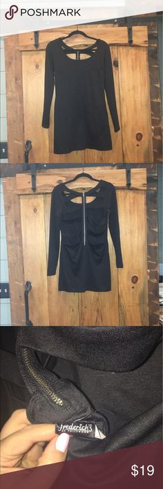 Fredricks of Hollywood cage back tight dress euc Fredricks of Hollywood cage back tight dress euc perfect for a night out only worn once zipper back size large Frederick's of Hollywood Dresses Backless