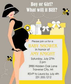 modern gender neutral baby shower invitations