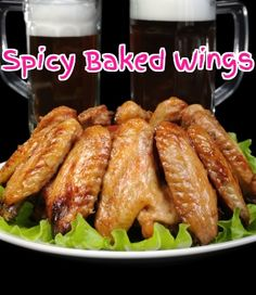 Oven-baked chicken wings offer a #lowfat alternative to fried #chicken and these boast cayenne and paprika for a real kick.