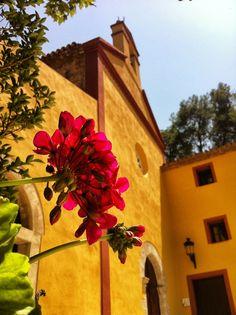 Detall de la façana de l'ermita Santa Marina