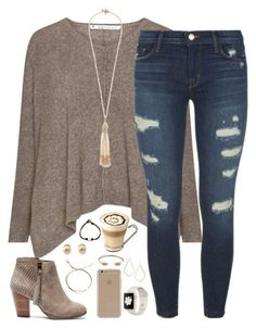 """""""your vibe attracts your tribe"""" by kaley-ii liked on Polyvore featuring J Brand, Sole Society, Miriam Haskell, Dogeared, Tory Burch, Agent 18 and Kendra Scott"""