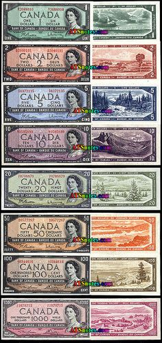 1954 Canada banknotes - Canada paper money catalog and Canadian currency history